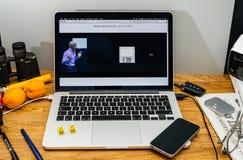 Apple Craig Federighi vede in anteprima l'alta sierra del MaOS a WWDC 2017 Fotografie Stock
