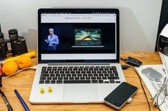 Apple Craig Federighi vede in anteprima l'alta sierra del MaOS a WWDC 2017 Fotografia Stock
