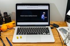 Apple Craig Federighi vede in anteprima l'alta sierra del MaOS a WWDC 2017 Immagine Stock