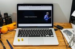 Apple Craig Federighi vede in anteprima l'alta sierra del MaOS a WWDC 2017 dentro Fotografia Stock
