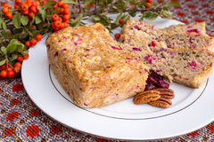 Apple cranberry bread. Royalty Free Stock Photography