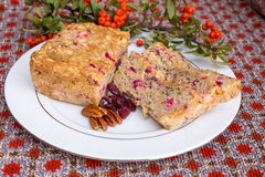 Apple cranberry bread. Royalty Free Stock Images