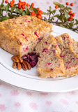 Apple cranberry bread. Royalty Free Stock Photo