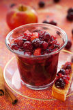 Apple and cranberry chutney Royalty Free Stock Photography