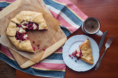 Apple and Cranberry Galette Stock Photography