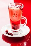 Apple cranberry hot drink Stock Images