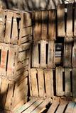 Apple crates Stock Photo