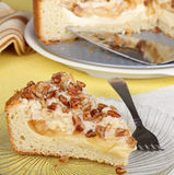 Apple Cream Cheese Coffee Cake. Slice of apple cream cheese coffee cake Royalty Free Stock Photography