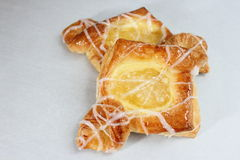 Apple and cream pastry Stock Image