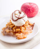 Apple Crisp Ala Mode stock photo