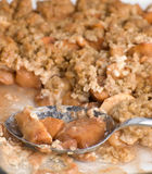 Apple Crisp Dessert Stock Image