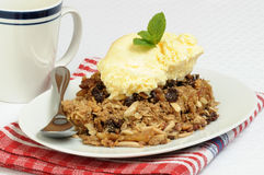 Apple Crisp and Ice Cream Royalty Free Stock Images