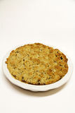 Apple crisp on white Royalty Free Stock Image