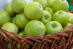 Apple crop in a basket Stock Photography