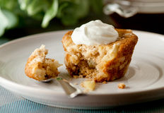 Apple Crumb Coffee Cake Stock Images