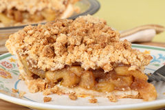 Apple Crumb Pie Closeup Stock Photography