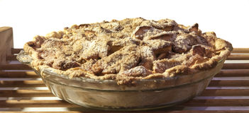 Apple crumb pie Stock Photos