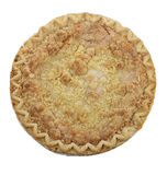 Apple Crumb Pie. Top View stock photo