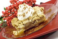 Apple Crumb Topped Pie Stock Photos