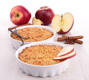 Apple crumble Stock Images