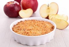 Apple crumble Stock Photography