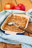Apple crumble cake Royalty Free Stock Photography