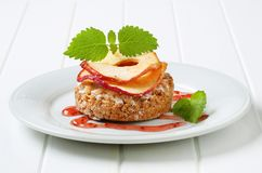 Apple crumble cookie Royalty Free Stock Images