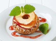 Apple crumble cookie Royalty Free Stock Photos