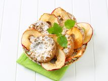 Apple crumble cookies with apple chips Royalty Free Stock Images