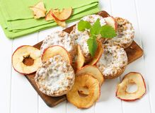 Apple crumble cookies with apple chips Stock Images
