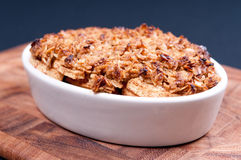 Apple crumble dessert Stock Images
