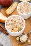 Apple crumble dessert Royalty Free Stock Images