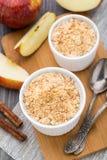 Apple crumble dessert Stock Images