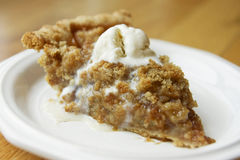 Apple Crumble Pie royalty free stock photo