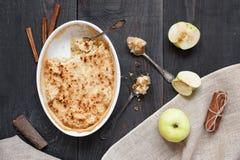 Apple crumble pie with cinnamon Stock Image