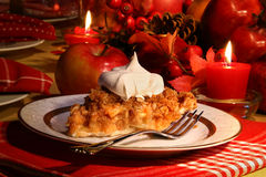 Apple crumble pie for the holidays Stock Image