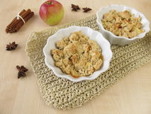 Apple crumble with spices Stock Photography