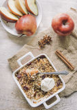 Apple crumbles Royalty Free Stock Photo