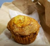 Apple Crunch Muffin. This is a Apple Crunch Muffin from Panera Bread stock image