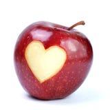 Apple, cuore Fotografia Stock Libera da Diritti