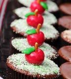 Apple cupcake Στοκ φωτογραφίες με δικαίωμα ελεύθερης χρήσης