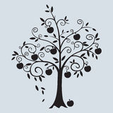 Apple curly tree vector illustration Royalty Free Stock Photo