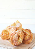 Apple custard filled croissants Stock Photos