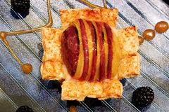 Apple Custard Pie Stock Photos