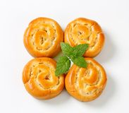 Apple Custard Pinwheels Stock Photos