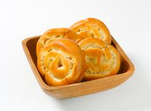 Apple Custard Pinwheels Royalty Free Stock Photos