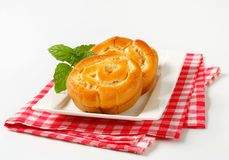 Apple Custard Rolls Stock Images