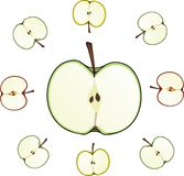 Apple cut Royalty Free Stock Photos