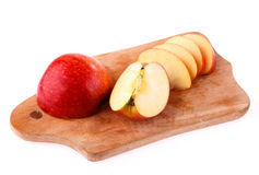 Apple cut on a board Royalty Free Stock Photography