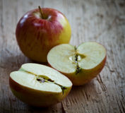 Apple Cut In Half Stock Images